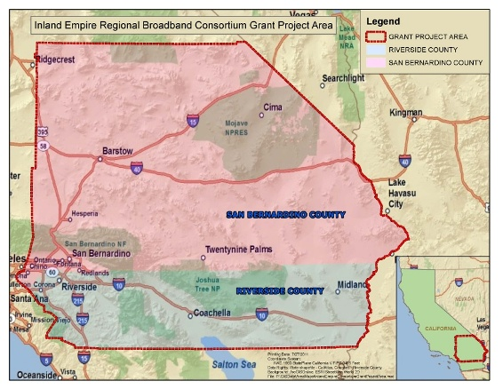 Project Area Map - Map of san bernardino county